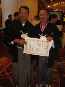 1st Place Yon Dan Tameshigiri (Cutting)